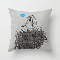 Song of Harmony Throw Pillow