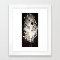 Feather Souls Framed Art Print