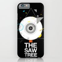 iPhone & iPod Case featuring The saw tree by Diego Bellorin a.k.a EMPK
