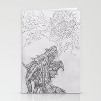 dragon fire artist Stationery Cards