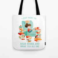 Read Books and Drink Tea Tote Bag