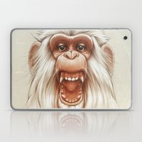 The White Angry Monkey Laptop & iPad Skin