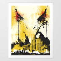 Eagle Eye Watching Art Print