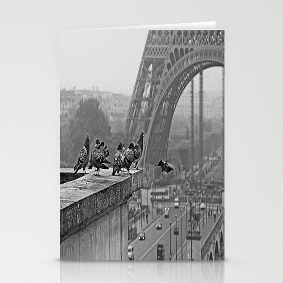 pigeons parisien Stationery Card