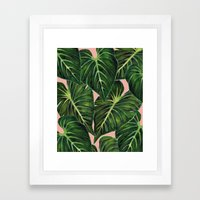 Tropical II Coral Framed Art Print