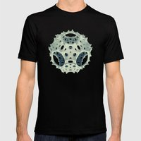 Icosahedron Bloom Mens Fitted Tee Black SMALL