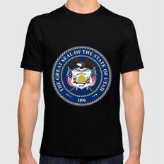 Utah State Seal Black SMALL Mens Fitted Tee