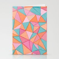 watercolor triangles Stationery Cards
