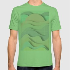 Wave I Mens Fitted Tee Grass SMALL