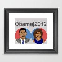 Obama, 2012 Framed Art Print