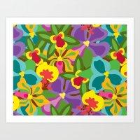 Summer Orchid Pattern Art Print