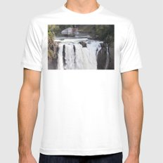When Will It Fall? Mens Fitted Tee SMALL White