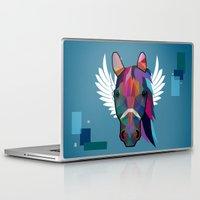 horse Laptop & iPad Skins featuring horse  by mark ashkenazi