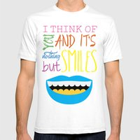 Smile Mens Fitted Tee White SMALL