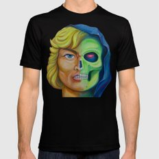 He-man & Skeleton SMALL Black Mens Fitted Tee