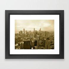 Chicago - View from John Hancock Framed Art Print