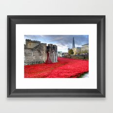 Poppies at the Tower of London Framed Art Print