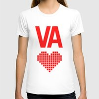 Virginia Love Womens Fitted Tee White SMALL