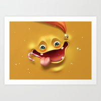 Christmas Mad Face Art Print