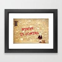 King's Landing Banksy: W… Framed Art Print