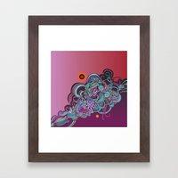 Detailed Diagonal Tangle… Framed Art Print