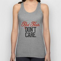 Red Hair Don't Care Unisex Tank Top