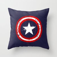 Captain's America Splash Throw Pillow
