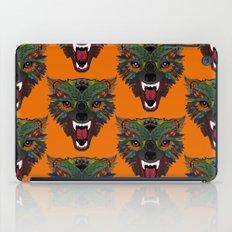 wolf fight flight orange iPad Case