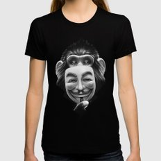 Anonymous Womens Fitted Tee Black SMALL