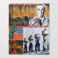 Oppenheimer's Deadly Tiki Toys Canvas Print