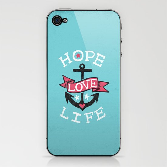 HOPE LOVE LIFE - ANCHOR iPhone & iPod Skin