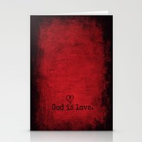 God is Love Stationery Cards