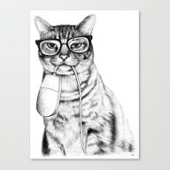 Mac Cat Canvas Print