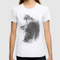DARK LION #2 Womens Fitted Tee Ash Grey SMALL
