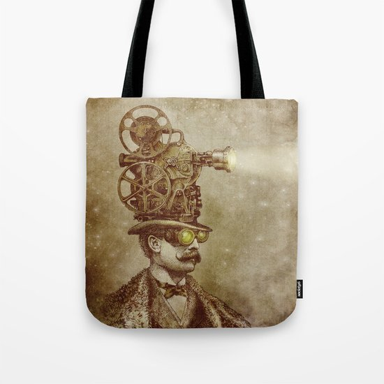 The Projectionist (sepia option) Tote Bag