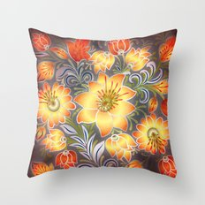 Shabby Flowers #3 Throw Pillow