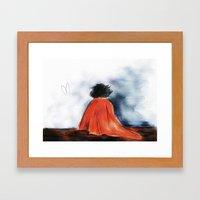 Shock Blanket- BBC's She… Framed Art Print