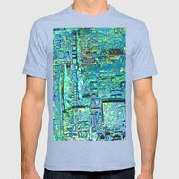 Wet Paint Factory Mens Fitted Tee Tri-Blue SMALL