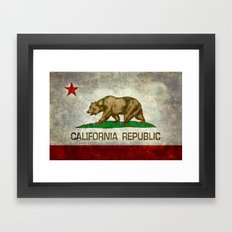 Californian State Flag -… Framed Art Print