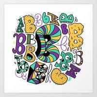 All the B's Art Print