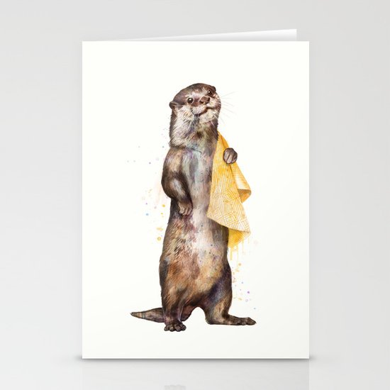 otter Stationery Card