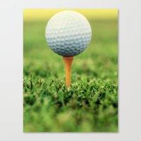 Golf Ball on Tee Canvas Print