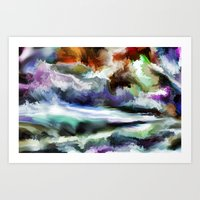 Wild Is The Sea Art Print