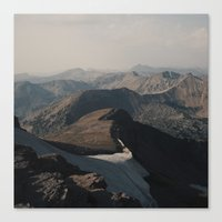Mountain Layers in the Wyoming Wilderness Canvas Print