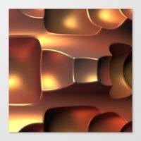 Copper Toned Canvas Print