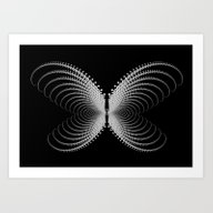 Butterfli, With I Art Print