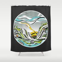 When The Earth Meets The… Shower Curtain