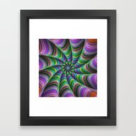 Framed Art Print featuring Striped Tentacles by David Zydd