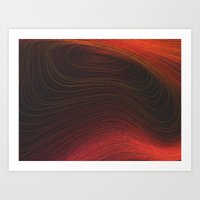 Layers Red Art Print