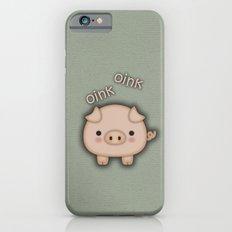 Cute Pink Pig Oink iPhone 6 Slim Case